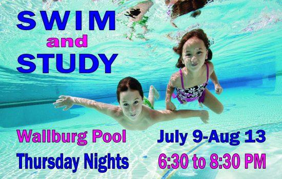 Swim and Study Poster